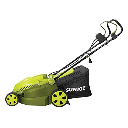 "Sun Joe iON16LM-HYB 40V 4.0 Ah Hybrid Cordless or Electric Lawn Mower, 16"""