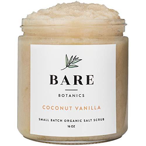 Bare Botanics Body Scrub (Coconut Vanilla) – Gentle Exfoliator & Super Moisturizer | All Natural, Non-Greasy, No…