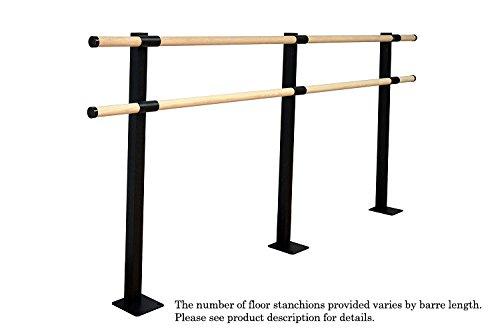 Vita Vibe Ballet Barre - SHD240-W - 20ft. Traditional Wood Double Bar Fixed Height Floor Mount Ballet Bar - Stretch/Dance Bar - USA Made by Vita Vibe