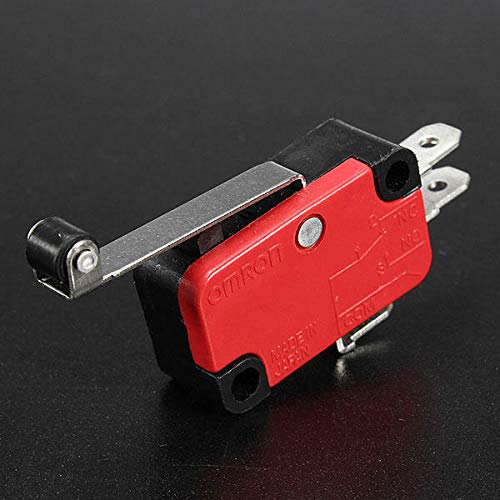 5Pcs AC 250V 15A V-156-1C25 SPDT Roller Lever Micro Switch by Anddoa (Image #3)