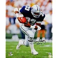 $135 » Tony Dorsett Autographed Dallas Cowboys 16x20 PF Running w/Ball Photo w/HOF- Beckett Auth Black