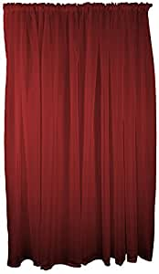 "MAROON VOILE ROD POCKET CURTAIN DRAPE 59X54"" 150X137CM"