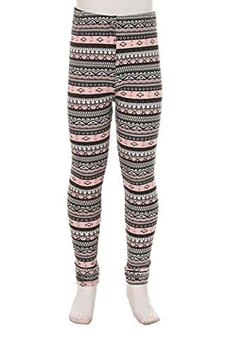 Kid's Popular Winter Cozy Print Leggings (Large-XLarge, N239)