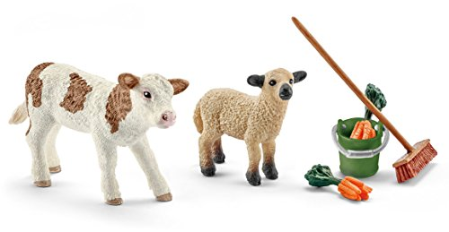 - Schleich North America Stable Cleaning Kit with Calf & Lamb
