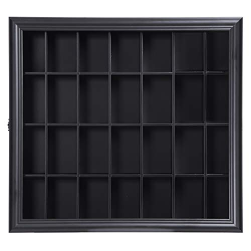 Gallery Solutions 18x16 Shot Glass Display Case with Hinged Front in Black by Gallery Solutions (Image #2)