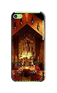 Custom Merry Christmas New fashionable TPU Cellphone Protector Cover Case for iphone 5c