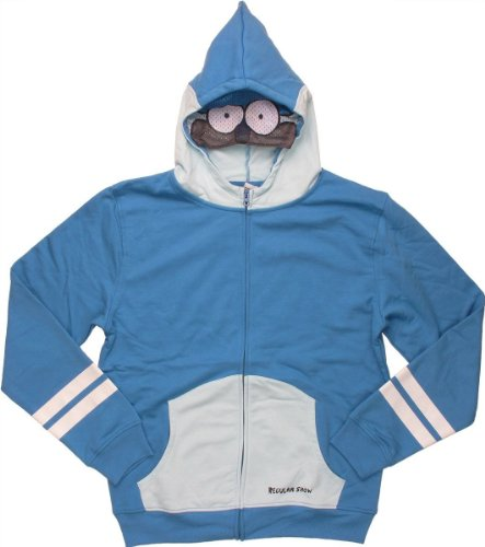 Big Boys' Regular Show Mordecai Costume Hoodie - M