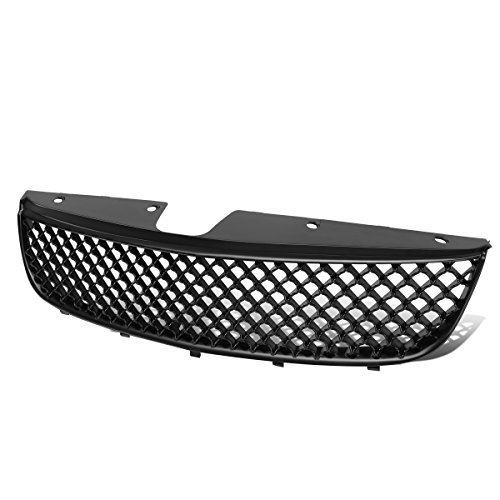 Chevy Malibu ABS Plastic Mesh Front Upper Bumper Grille (Black) - 5th Gen