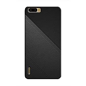 Cover It Up - Leather Stiched Honor 6 Plus Hard Case