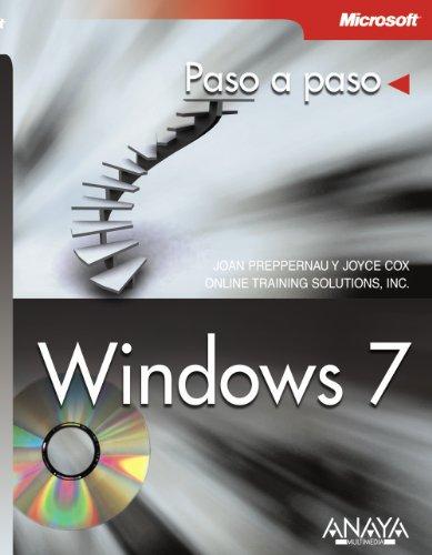 Windows 7 (Paso a Paso / Step By Step) (Spanish Edition) [Joan Preppernau - Joyce Cox] (Tapa Blanda)