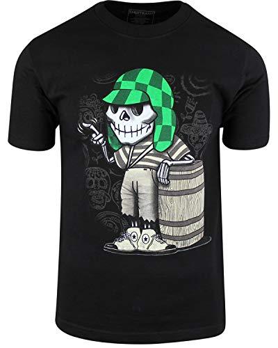 Dia De Los Muertos Shop (El Chavo del Ocho Dia de Los Muertos Shirt Sugar Skull Chespirito (2XL,)