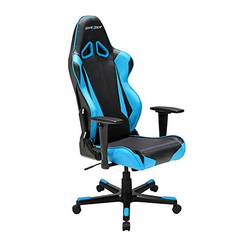 DXRacer Racing Series DOH/RB1/NB Newedge Edition Racing Bucket Seat Office Chair Gaming Chair Automotive Racing Seat Computer Chair eSports Chair Executive Chair Furniture (Black/Blue)