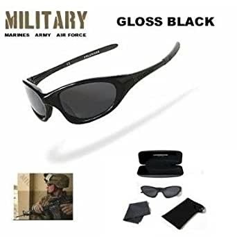 Military Armed Forces Mens Black ONYX Polarized Sunglasses (Gloss Black)