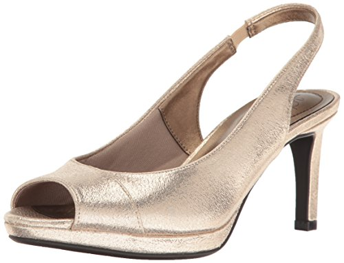LifeStride Women's Invest Dress Sandal, Soft Gold, 10 M US