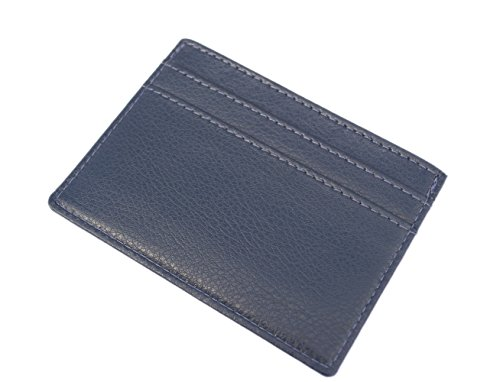 Luxury Credit Blue Chelsea in Wallet Holder Card Leather Slim Leather rFPFp