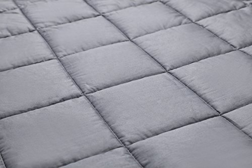 Weighted Blanket for Adults with Anxiety by Anjee Therapy, 15 lbs Autism Weighted Blanket for 100 - 150 lbs Persons, for Better Sleep and Stress Relief, Ideal Christmas Gift, (60 x 80 Inches, Grey) by Anjee (Image #2)