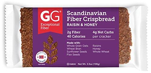 GG Scandinavian Fiber Crispbread, Raisin & Honey, 15 Count