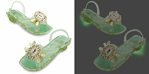 [Disney Store Princess Tiana Light Up Shoes Costume Slippers Size 9/10] (Princess Tiana Disney Costume)