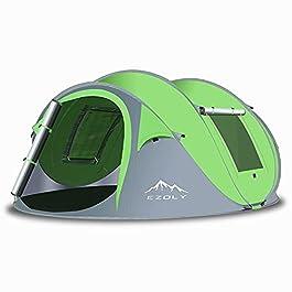 EZOLY 4 Person Pop up Tent, 3-4 Person Automatic Tent, 2 Seconds Setup Instant Tent, Beach Tent Sun Shelter,Waterproof…