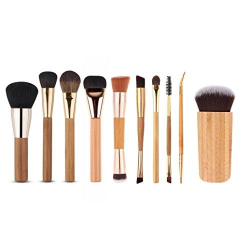 Bolayu 10Pcs Cosmetic Brush Makeup Brushes Tools Sets Kits
