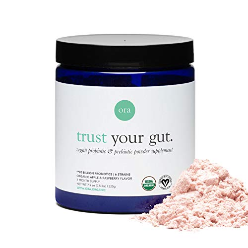 Ora Organic Probiotic and Prebiotic Powder Supplement, 20 Billion Organic Probiotics, 6 Strains - Best Vegan Prebiotic Powder, Gluten-Free, Non-GMO, Probiotics for Women, Men & Kids (Full Size) (Best Yogurt For Probiotic Health)