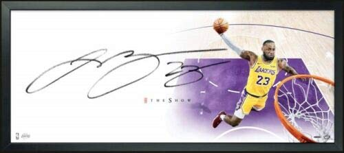 (LEBRON JAMES Autographed Los Angeles Lakers