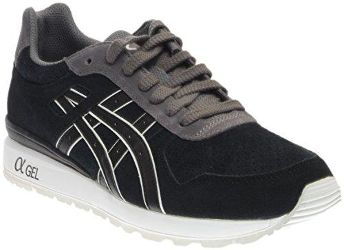 ASICS GT II Retro Running Shoe, Black/Grey, 6 M US (Casual Shoes Asics)