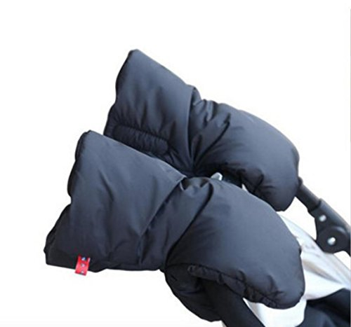 Stroller Winter High Quality Accessories Waterproof Anti-Freeze Pram Hand Muff Foldable Extra Thick Warm Gloves for Baby Carriage Hand Cover