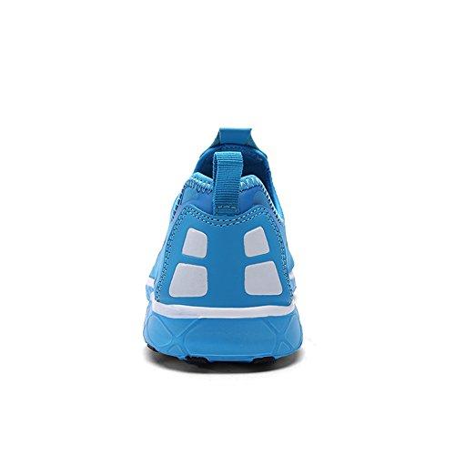 KALEIDO Damen Atmungsaktive Mesh Slip On Walking Casual Wasserschuhe 05blau