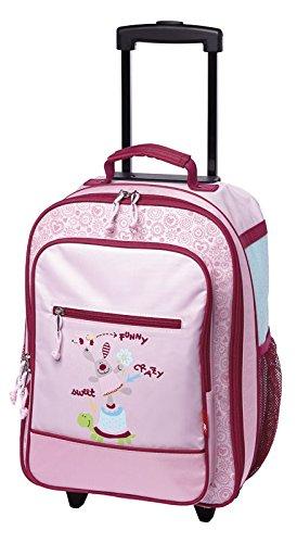 sigikid, Mädchen, Kindergepäck Trolley Drei Freunde, Happy Friends, 40x30x17 cm, Rosa, 24545