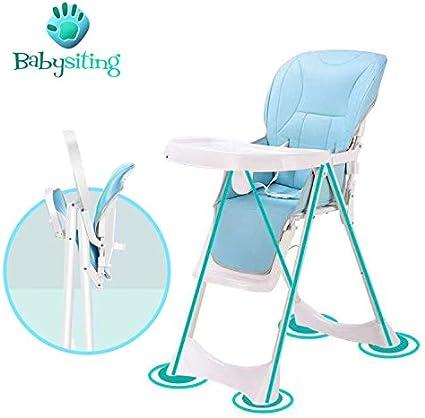 avec ceinture de s/écurit/é r/églable en hauteur facile /à laver la housse avec support antid/érapant sur les pieds dappui Chaise haute pour b/éb/é pliante