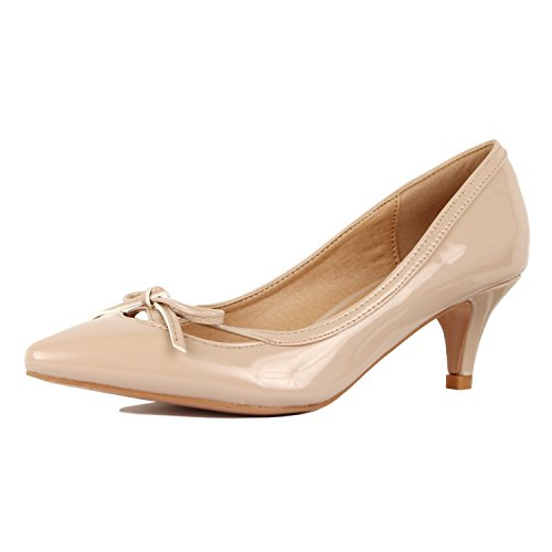 - Guilty Shoes - Aubree 17-Beige-Patent, 8