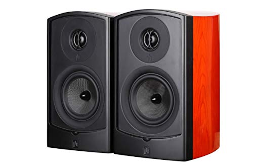 Aperion Audio Verus II 5B Bookshelf Satellite Surround Speakers, Passive Need Amplifier or Receiver, 5.25-Inch Kevlar Woofer and Patented ASR Tweeter (Pair Gloss Cherry)