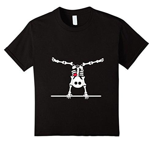 Kids gymnastics skeleton halloween shirt 6 (Funny Halloween 2017)