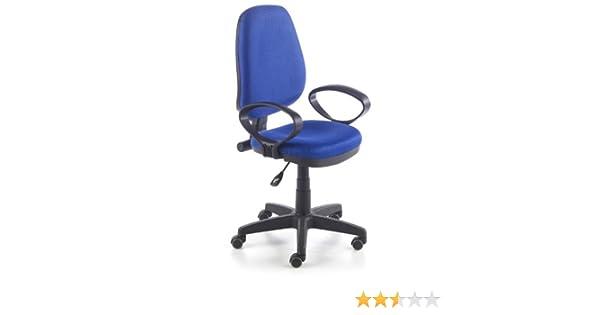 Due-home Silla de oficina silla escritorio tapizado 3D color azul: Amazon.es: Hogar