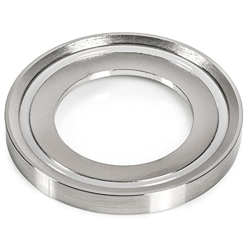 Miligoré Mounting Ring for Vessel Sinks - Brushed (Universal Height Round Bowl)
