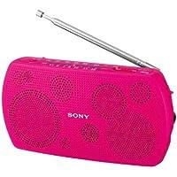 Pink SONY stereo portable radio SRF-18 / P