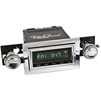 RetroSound HB-121-03-73 Hermosa Direct-Fit Radio for Classic Vehicle (Black Face and Buttons and Chrome Bezel)
