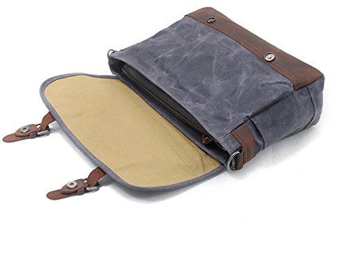 messager gris à d'ordinateur à Sacs sac portable imperméable sac NONGNIML cire à photo des Sac toile bandoulière hommes huile l'eauOutdoor sac bandoulière main d'appareil sac wpqY5Sp