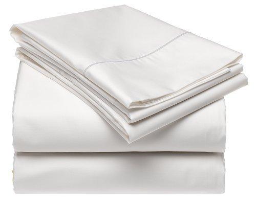 Renaissance 600-Thread-Count Cotton Sateen Queen Sheet Set, White Renaissance Collection 600 Thread