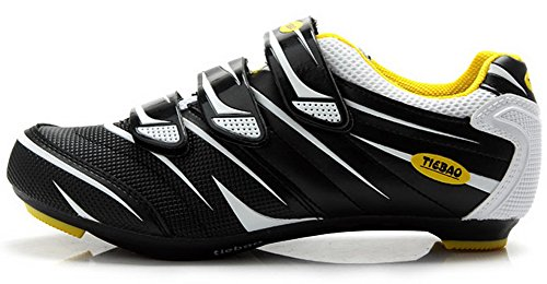 Tiebao Road Cycling Shoes Lock Pedal Bike Shoes Cleated Bicycle Ciclismo Shoes White 43