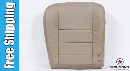 2004 Ford F-350 Lariat Driver Side Bottom Replacement Leather Seat Cover, Tan
