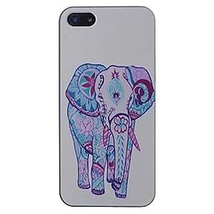 MOM Elephants Pattern Black Frame PC Hard Case For iPhone 5/5s