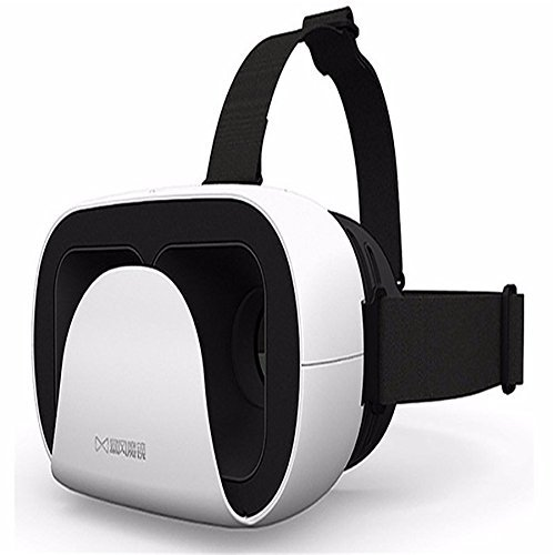 XKMJT? Baofeng Mojing Xiao D 3D VR Glasses Virtual Reality Headset VR BOX Helmet Headset Cardboard For Smartphone White black handle by XKMJT