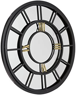 Large Industrial Antiqued Clock Face Style Garden Mirror Amazonco
