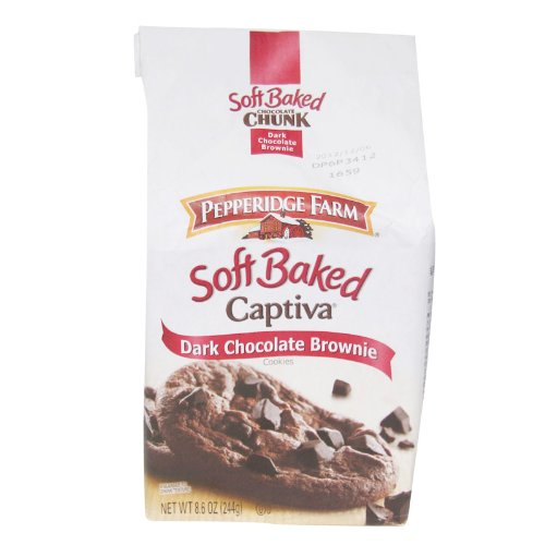 (Pepperidge Farm Soft Baked Cookies, Captiva Dark Chocolate Brownie, 8.6-ounce (pack of 5))
