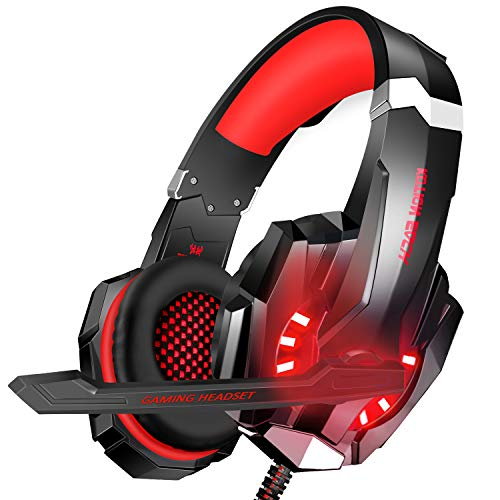 BlueFire Stereo Gaming Headset for PS4, PC, Xbox One Controller, Noise Cancelling Over Ear Headphones with Mic, LED…