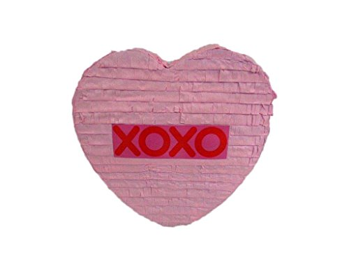 Large Pink Heart Pinata - -