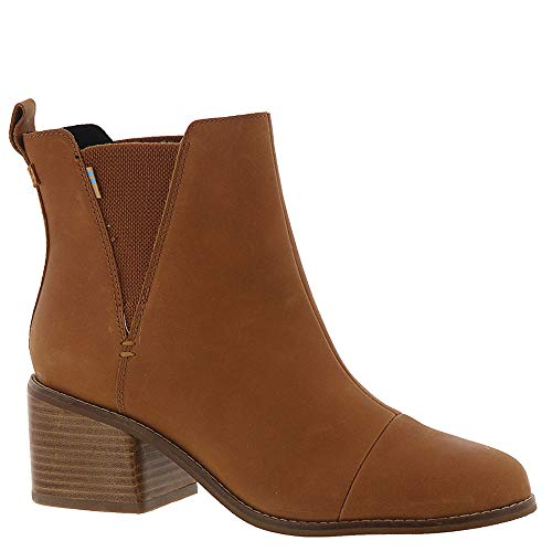 Large Leather Tan (TOMS Women's Esme Boot Tan Leather 8.5 M)
