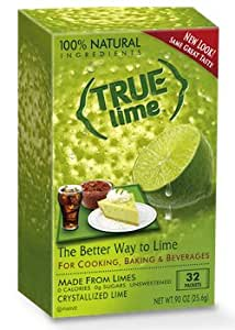 True Lime Crystallized Lime Mix, 32 Packets, .91 Ounce Box (Pack of 12)